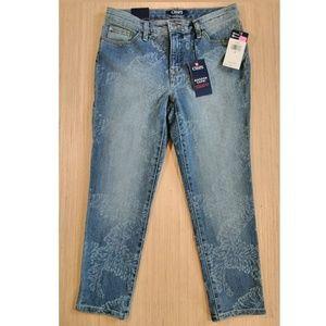 Chaps madden womens slimming fit jean capri size 4